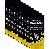 Rayovac Acoustic Zinc Air Hoortoestel batterijen, maat 10 AU, Yellow Tab, verpakking van 60