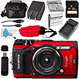 Olympus Tough TG-5 Digital Camera (Red) V104190RU000 + 32GB SDHC Card + LI-50B Lithium Ion Battery + External Rapid Charger + Small Soft Carrying Case + Camera Floating Strap + Card Reader Bundle