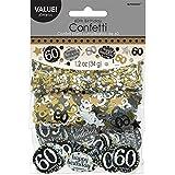 Amscan 360188 Confettis 60e anniversaire Doré 34g