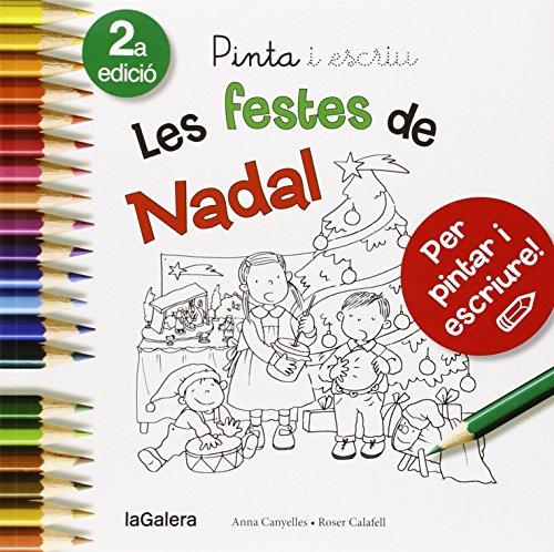 Pinta i escriu Les festes de Nadal por Anna Canyelles
