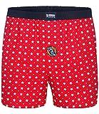 Happy Shorts Boxershorts Herren / Web-Boxer mit Jersey-Innenslip