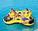 Bestway Schwimminsel Badeinsel 4 Erwachsene Luftmatratze Badelounge Wasserinsel