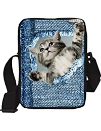 Genric Chocolate : Original Cute Cat Messenger Travel Bags For Women High Multifunctional Girls Shoulder Bags...