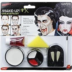 Smiffy's - Set de Vampiro Maquillaje, color blanco y rojo (37808)