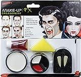 Smiffys Kitde maquillage vampire, avec crocs, éponge, peinture du visage et sang en tube