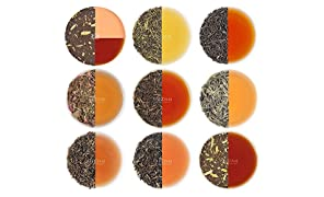 Assorted Loose Leaf Tea - 10 TEAS, 50 SERVINGS - Black Tea, Green Tea, Oolong Tea, Chai Tea, White Tea | BEST SELLING Tea Variety Pack | Hot, Iced, Kombucha Tea, Loose Leaf Tea Sampler & Tea Gift Set