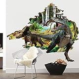 Bomeautify Papiers peints Stickers Autocollantsdécoratifstridimensionnels dedinosaure3D desalon créatif entrois dimensions60 * 90cm