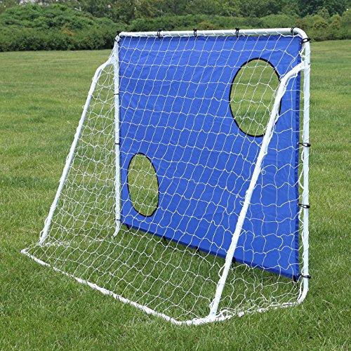 Songmics Fußballtor Maße 240x150x90cm Nets Portable Blau SZQ240 - 5