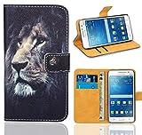 FoneExpert® Samsung Galaxy Grand Prime Handy Tasche, Wallet Case Flip Cover Hüllen Etui Ledertasche Lederhülle Premium Schutzhülle für Samsung Galaxy Grand Prime (Pattern 4)