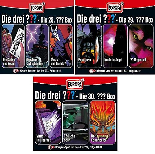 Die Drei ??? (Fragezeichen) - Folgen 82-90 (3 CD Box 28+29+30) im Set - Deutsche Originalware [9 CDs] - 3 84