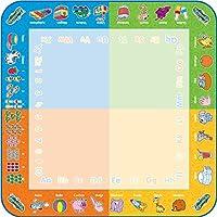 Nouveau : Aquadoodle se mets en couleurs ! Ludique et pratique, l'enfant dessine sans se tâcher. Côté éducatif grâce aux chiffres et lettres qui ornent la bordure. Sur ce nouveau tapis, la surface de dessin est partagée en 4 couleurs pour réaliser de...