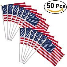 OUNONA Banderas Americanas Mini Bandera de Mano 14cm x 21cm 50 Piezas