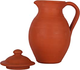 Village Decor Handmade Terracotta/Clay Classic Water Jug (Brown)