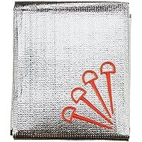 10T Isoma 60 Isomatte 200x60cm Alumatte Thermomatte für 1 Person hoch-isolierende Campingmatte, Wärmeschutz Unterlage mit Ösen und Heringe