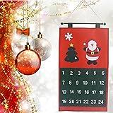 Wandkalender 2018,Hunpta Weihnachten Alter Mann Schnee Mann Hirsch Kalender Advent Countdown Kalender (Rot)