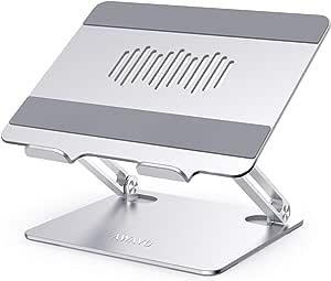 AWAVO Supporto PC Portatile, supporto per computer ergonomico in alluminio per scrivania, supporto multi-angolo compatibile con MacBook Air/Pro, Dell, HP, Lenovo, altri laptop da 10-15,6''