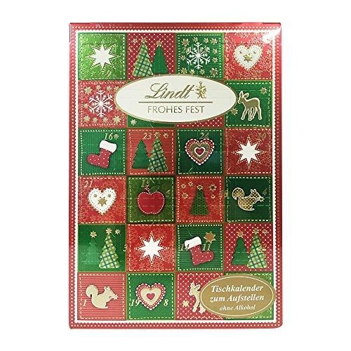 Lindt - Frohes Fest Tischkalender Adventskalender mit Schokolade - 115g