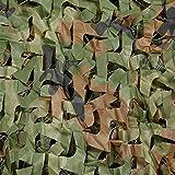 SPLHMILY filet de camouflage en bois, filet de camouflage en polyester renforcé pour le camping