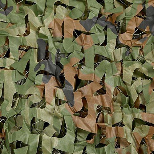 "SPLHMILY red de camuflaje bosques, 6.6 ""* 10"" red de camuflaje reforzado de poliéster para camping militar de caza de disparo protector solar"