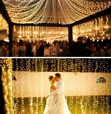 Lichterkette 200 Leds 22 Meter mit EU-Stecker von DC 31V Niederspannungstransformator und 8 Programm für Party, Garten, Weihnachten, Halloween, Hochzeit, Beleuchtung Deko warmweiß von Uping