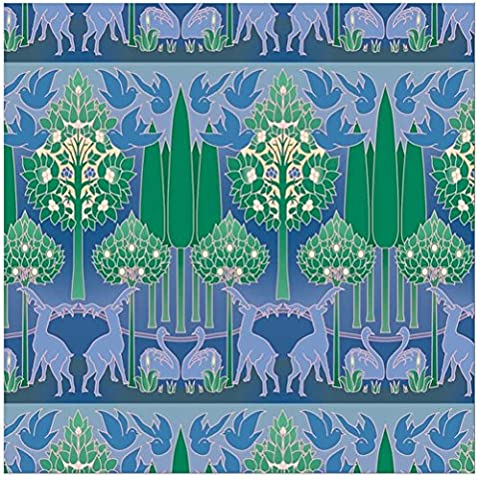 Gift Wrap: Voysey Blue & Green Nature