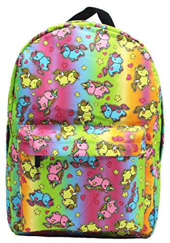 Freitop Schulrucksack Cartoon Tier Einhorn Muster ab 5 Jahre Schulranzen Rucksack Kindergartenrucksack Schultasche Groß für 5-14 Jahre Kinder Mädchen Jungen 1-6 Klasse Schüler Grundschule
