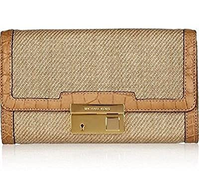 Michael Kors Collection Tan Gia Woven Clutch Bag Leather RRP £370.00