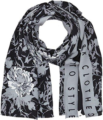 GUESS Bufanda para Hombre, Multicolore (Grey/Black Floral), Talla única