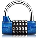 Surplex 5-cijferig combinatieslot hangslot, combinatieslot, resetbaar voor school, gym, case, gereedschapskist, hek, kast, en