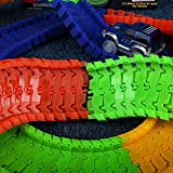 #4: MSE 220Pcs Track With 1 Car Glowing Racing Track Toy Car Electronic Rail Glow Puzzle Roller Coaster Track For Kids Christmas Gift