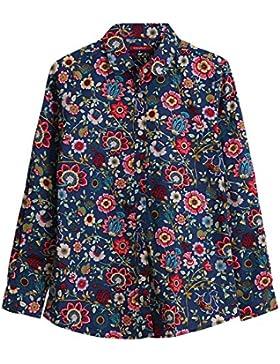 Dioufond Camisas Mujer Estampadas de Flores Manga Larga Blusas Casual para Mujer