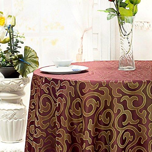 Albergo Tovaglia, primaria Casual Dining Tovaglia, Tovaglia rotonda vino rosso copertura tavolo ( dimensioni : 300CM )