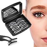Magnetic Eyelashes,Reusable Magnetic False Eyelashes 3D 3 Magnets Extension Soft individual False Eyelashes No Glue With...