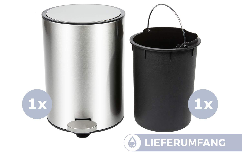 Cestini Rifiuti Da Bagno : Cestino bagno bamodi pattumiera acciaio inox cestino