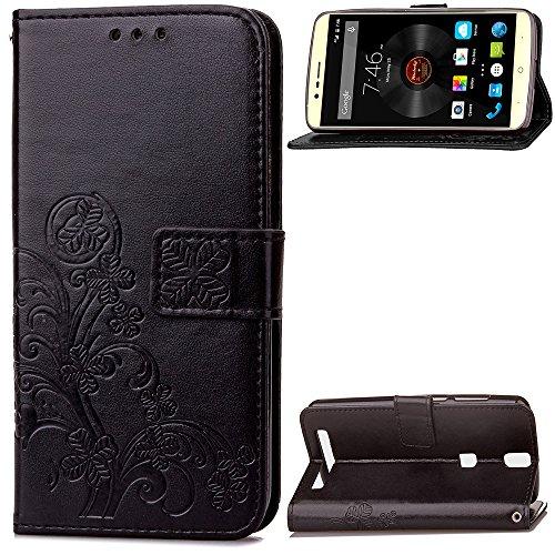 custodia-elephone-p8000-caseforyour-lucky-clover-pattern-nero-pelle-pu-magnetico-flip-stand-portafog