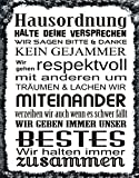 """"""" Hausordnung """" Metallschild"""