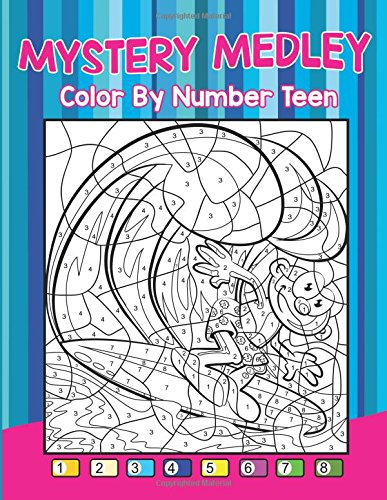 Mystery Medley: Color By Number Teen