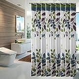 Bunt Blätter Duschvorhang Anti-Schimmel Wasserdicht Polyester Duschvorhang mit Haken 120/150/180/200/220/240 x 200cm