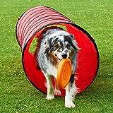 Spiel- und Spaß-Tunnel, 3 m lang, ø 60 cm, rot, Agility - Hundetraining
