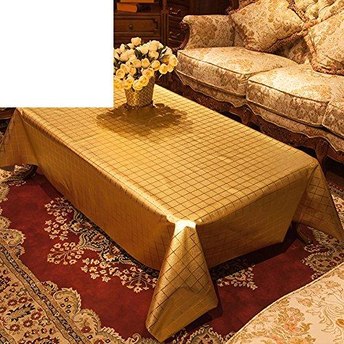 Golden eagle tischdecken,Heißen tee ein paar einweg-matte pvc wasserdicht,Salon europäisch anmutenden kunststoff tischdecke-D 133x177cm(52x70inch) (52 X 70 Tischdecke)