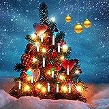 Jingrong LED Kerzen, Mehrfarbige Flammenlose Kerzen mit Tanzflammen und 18-Tasten Fernbedienung, 6/8-Stunden Timer, 250 Stunden (ohne Batterie) (Batterie nicht enthalten)