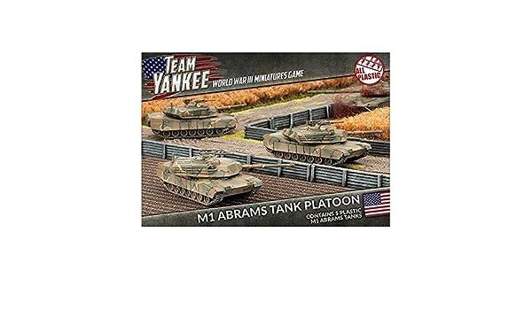 6152b472b435 Flames of War Team Yankee US M1 Abrams Tank Platoon (5 models ...