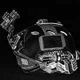 #10: Aoile Lightweight Windproof Anti-Collision Helmet with Goggles Military Shooting Helmet Paintball Face Mask