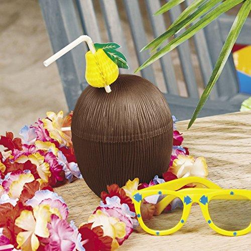 Kokosnuss Trinkflasche 12 Stück Becher für Aloha Hula Hawaii Beachparty