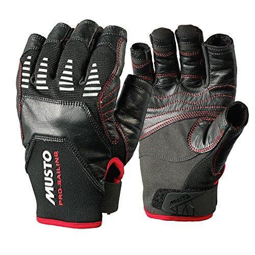 2017 Musto Evolution Sailing Short Finger Glove BLACK