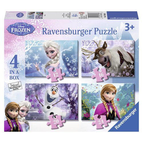 Ravensburger-Disney-Frozen-4-in-Box-12-16-20-24pc-Jigsaw-Puzzles