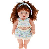 Magideal Handmade Realistic Baby Girl Vinyl Doll Rotatable Legs Arms with Removable Clothes Set (30 cm, Green)