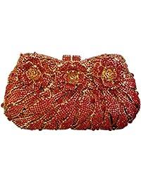 Flada Rhinestones flor chica Embragues Bolsas para fiesta de bodas el bolso de noche bolso