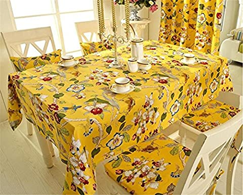 XUHAZI®Tablecloth Table runner Europa moderne einfach Atmosphäre chinesischer Stil Retro Baumwolle Idyllisches Dorf Esstisch Teetisch Tischdecken table runner, 140*140,