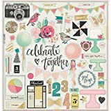 """American Crafts Maggie Holmes Confetti Gold Foiled Chipboard 12""""X12""""-Accents"""